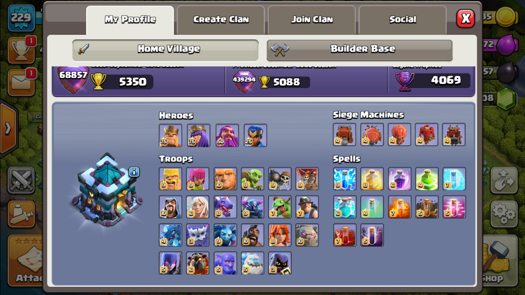 TH 13 Level 239 very good max clash of clans account for