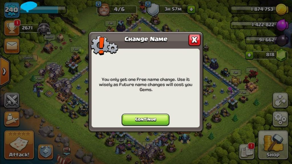 TH 13 Level 240 almost max coc account for sale + 6 worker